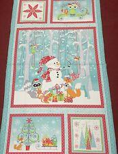 Benartex - Frosty Forest - Christmas Panel -  60cm - 100% Cotton - Fabric Panel
