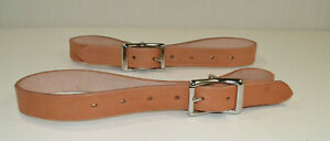 """Breast Collar Tugs - 1"""" x 28"""" - Russet Leather - 1 Pair (F16)"""