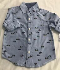 Carter's Toddler Boy Long Sleeve Chambray Button Up Shirt 2T Nwt