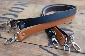 Replacement Leather Shoulder Bag Strap19mm wide 900mm long, nickel silver clasps