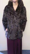 Vintage Genuine Dark Brown European Mink Fur coat Jacket M UK 10/12 Euro 38/40