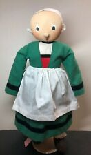 19.5� Antique Vintage French Painted Face Cloth Doll Beepssine All Original #Sa