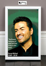 George Michael Quote Print (framed)