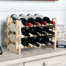 Vinrack 12 Bottle Wooden Wine Rack - Natural Pine