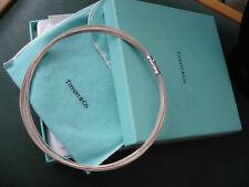 """Auténtico Tiffany & Co Plata Multi-Hilo Collar 16"""" con bolsa/caja"""
