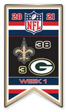 2021 WEEK 1 BANNER PIN NFL NEW ORLEANS SAINTS VS. GREEN BAY PACKERS SHIPS 9/21