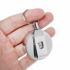 Stainless Steel Key Retractable Recoil Ring Pull Key Chain Belt Clip Keychain