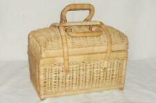 Old Plaited Basket Bag Suitcase Basketry Handbag Basket Bag Alt