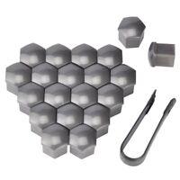 20X 19MM Car Wheel Nut Covers Wheel Lug Nut Center Cover Caps Protector Hub Gray
