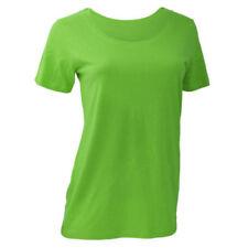 T-shirt, maglie e camicie da donna verde basici taglia XS