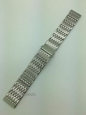 24mm MB9276 Hadley Roma Shiny Silver Stainless Steel Wide Metal Watch Band Mens