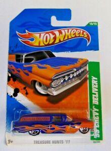Hot Wheels '59 CHEVY DELIVERY Blue & Orange 1959 TH 2011 TREASURE HUNT #15