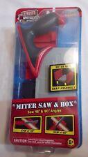 Real Construction Miter Saw & Box Jakks Pacific 6+ NEW