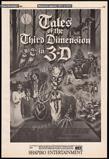 TALES OF THE THIRD DIMENSION in 3-D__Original 1985 Trade AD_poster__EARL OWENSBY