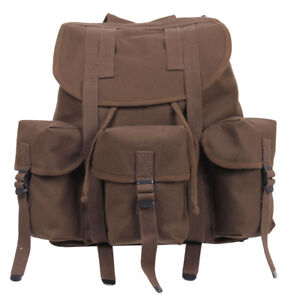 Backpack Earth Brown ALICE Mini Soft Pack Canvas Military Style Pack Rothco 2697