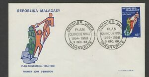 MALAGASY 1968 FIRST DAY COVER STRIVING MANKIND