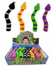 Snake Finger Puppet Squishy Stretchy Slithery Rubber Joke Gag Kids Party Bag Toy