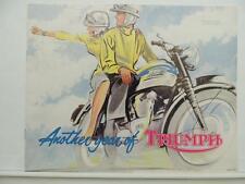 1962 Triumph Brochure Tiger Cub Sports Cub Speed Twin Trophy L9901