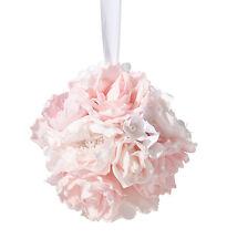Blush Pink Flower Ball Wedding Decoration Flower Girl Basket Alternative
