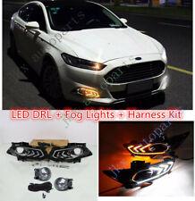 LED DRL Daytime Running Lamp Fog Light Kit For Ford Fusion Mondeo 2013-2016