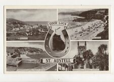 Good Luck From St Austell Vintage Postcard 154b