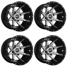 4 ATV/UTV Wheels Set 14in Sedona Storm Machined 4/156 4+3 POL