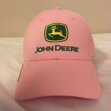 John Deere Owners Edition Womens Strapback Hat Embroidered Logo Pink Free Ship!