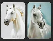 Swap Playing Cards. 2 Single Cards. Horses. Modern Blank Back MINT