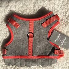 """New listing Martha Stewart Grey Tweed/Coral Over-Head Dog Harness Size 16 Girth 15.5-18.5"""""""