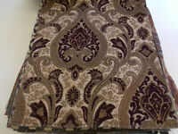 upholstery fabric chenille color wine (by the yard) 54 wide for sofas chairs