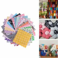 50pc Fabric Bundle Stash Cotton DIY Craft Patchwork Sewing Quilting Tissue Cloth