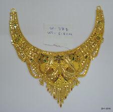 gold choker filigree work handmade 22kt gold necklace traditional design