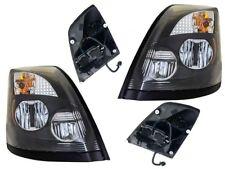 New Black LED Headlight PAIR/SET FOR 2015 2016 Volvo VNL VN VNX VNM Truck