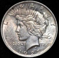 1923 P Peace Dollar, Brilliant Uncirculated Condition, Silver, Free Ship, C4408