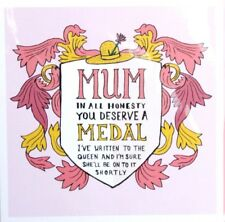 """Mother's Day Card """"Mum Medal"""" Humour Greeting Occasion Celebration Card Fun Cute"""