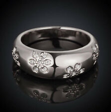 STERLING SILVER PLATED BAND RING WEDDING RING WOMEN BAND RING FASHION RING