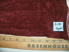 Burgundy Stria Chenille Fabric / Upholstery Fabric 1 Yard R120