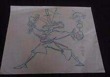 John Kricfalusi Studio-Signed Paul Wee Sketch Art+Model Sheet Wackeyworld Macek