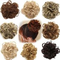 Women Ladies Curly Tail Hair Extension Bun Hairpiece Scrunchie Hairdressing
