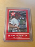 "1983 Star Mike Schmidt ""National League MVP"" #7 3B Philadelphia Phillies, HOF."