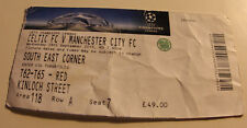 Ticket for collectors CL Celtic FC - Manchester City 2016 Scotland England