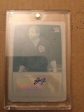 2015 Topps WWE Plate 1/1 Dean Ambrose Autograph