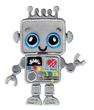 Robot Iron On Embroidered Applique Patch - Kids / Baby / PatchMommy®
