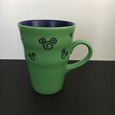 Walt Disney Green-Blue Swirl Abstract Mickey Mouse Head Ceramic Coffee Cup Mug