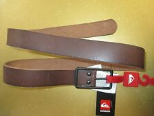 "NEW* QUIKSILVER SURF Stubs BELT LEATHER MENS S 32"" $42 Retail Brown"
