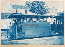 Cyanotype Tramway Vapeur c. 1900 -  Blanc-Misseron - 88