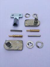 GAS / ELECTRIC METER BOX REPAIR KIT - 2x Metal Latch, 2x Hinges, Metal Key