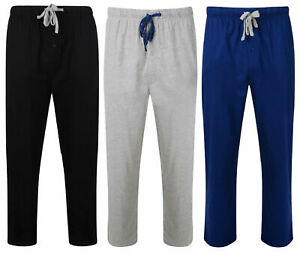 MENS PYJAMA BOTTOMS HANES X-TEMP COTTON JERSEY LOUNGE SLEEP PANTS S-XXXL NEW