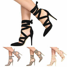 Stiletto Patternless Faux Suede Court Heels for Women