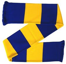 Blue and Gold Retro Bar Scarf - Made in the UK